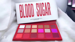 Sin azúcar online-New Arrivals 2018 makeup BLOOD SUGAR sombra de ojos prensada pigmen paleta 18 colores mate sombra de ojos paleta! ePacket envío gratis !!