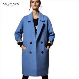 5bbd5d693e80 Frauen Wollmantel 2017 Herbst Winter Neue Mode Warmer Revers Cocoon  Grundlegende Mantel Einreiher Lose Weibliche Wollmischung Parkas WYF08