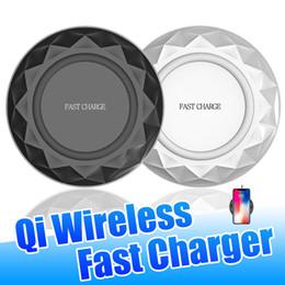 qi chargeur sans fil dock pad de charge Promotion 9V Slim Portable Diamant V6 rapide Qi sans fil Charging Dock pour iPhone Pad 11 Pro Max Samsung Galaxy Note 10 Plus S10