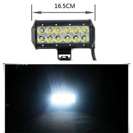 Wholesale Off Road Roof Light Bar - 12-LED 36W CREE LED Work Light Bar SUV ATV 4WD JEEP Spot Flood Beam Off Road Driving Fog Lamp roof lighting lights