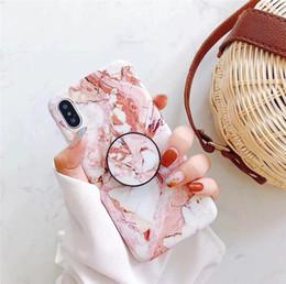 Canada Cas de téléphone de marbre de vente chaude pour Iphone XS XS MAX support de support de poignée de couverture pour Iphone XR 8 Plus protection arrière Shell supplier iphone cases grip Offre