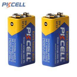 Wholesale 9v Battery Wholesale - 2pcs Pkcell Super Heavy Duty 9V 6F22 Dry Zinc Carbon Battery for Remote Control Toys Smoke Alarm ACC_11G