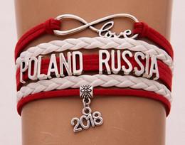 2019 frauen england flagge Unendlich Liebe armband England Polen Russland 2018 world cup schmuck Leder Nationalflagge frauen männer Armreifen geschenk Für Fußballfans günstig frauen england flagge