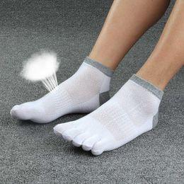 Wholesale pure cotton socks toes - 5pairs  Lot Men Socks Boys Cotton Finger Breathable Five Toe Socks Cotton Pure Sock Men 'S Cotton Short Socks