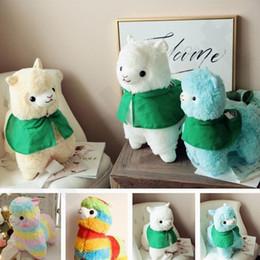 giocattoli a maglia all'ingrosso Sconti HOT Lovely Rainbow Animal Alpaca Doll Bambole di pezza Originalità giocattoli di peluche per bambini Regali di compleanno T7G002