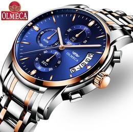 Olmeca военный Relogio Masculino водонепроницаемые часы мода хронограф наручные часы световой стрелки часы из нержавеющей стали от Поставщики часы ручной воды
