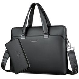 Maletines de cuero portátil online-BERAGHINI Hombres de Negocios Bolso Maletín de Cuero de LA PU Diseñador de Lujo Bolsa de Ordenador Portátil Oficina de Gran Capacidad Maletín Male Shoulder Bags