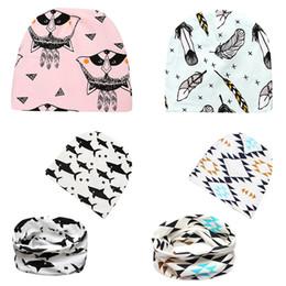 Wholesale Kids Hats Scarves - Children's Hats Scarf Suit 27 Designs Spring Autumn Kids Caps Fitted Hat Cartoon Designers Hats Cotton Sombreros Chapeau for Boy Girl 0-3T