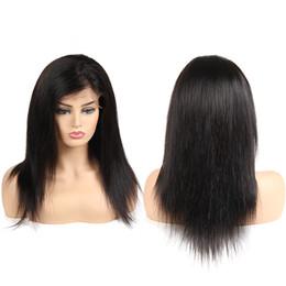 Extensiones de pelo de seda online-Pelucas brasileñas del frente del cordón de la seda del pelo recto Pelucas llenas completas del cordón del arrancador para la densidad de la extensión del pelo humano de las mujeres 130% Pelo de Remy