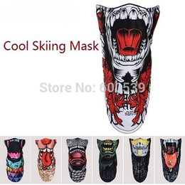 Wholesale Army Face - New Arrival Ski Snowboard Motorcycle Winter Warmer Sport Full Face Mask Pirates 3D Printed Triangular Scarf Skiing Mask