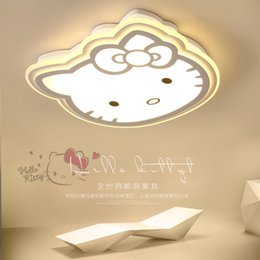 kids modern ceiling lighting Coupons - Hello Kitty ceiling lights modern pink  white acrylic protect eyesight kids room Children room Surface mounted ceiling lamp LED
