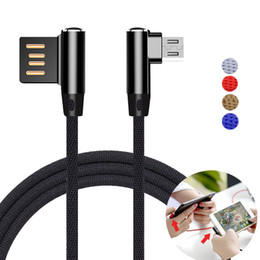 Wholesale 2m Braided Cable - Double Sides Braid Micro USB Cable USB Cable Data Charging cable 1M 3FT 2M 6FT For Android For All Smartphone