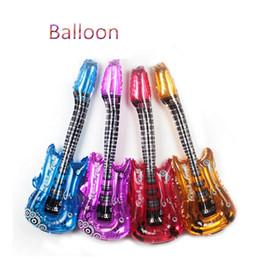 classica di chitarra Sconti 4 Pz / lotto Classic ToyS Chitarra Gonfiabile Air Balls Regalo Per I Bambini Per Rifornimenti Del Partito Giocattoli Per Bambini Di Compleanno Gonfiabile