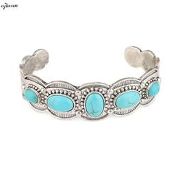 Wholesale Native American Indians - whole saleBoho Open Cuff Bracelet Gypsy Bracelet Hippie Tribal Femmes Ethnic Indian Native American Jewelry Navajo