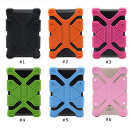 universal tab cover Promo Codes - Universal Silicone Tablet Case Protective Stand Cover Bumper Frame For iPad mini pro Samsung galaxy tab LG Tablet Asus