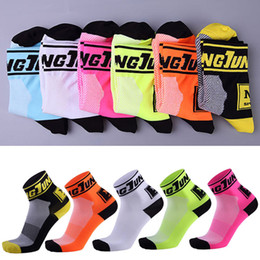Wholesale Drop Shipping Bikes - Sports Socks For Men Bike Riding Sock Outdoor Breathable Wear Resisting Non Slip Hiking Yoga 5 Styles Support FBA Drop Shipping G489Q