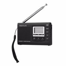 Portátil Mini Rádio DSP FM / MW / SW Receptor de Rádio de Emergência com Despertador Digital FM Antena Receptor Frete Grátis cheap dsp mini de Fornecedores de dsp mini