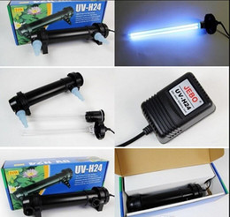 Wholesale Uv Water Light - JEBO 5W~36W Wattage UV Sterilizer Lamp Light Ultraviolet Filter Clarifier Water Cleaner For Aquarium Pond Coral Koi Fish Tank