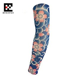 Wholesale tattoo sleeve anti uv - 6pcs Set Anti-UV Sunscreen Super Elastic Tattoo Arm Sleeves Warmers ,Hip-hop Rock,Fashion Cool Sporting Protection Long Gloves