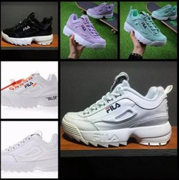 eb10a0f1582f 2018 Disruptors II 2.0 Mens Womens White Purple Sneakers Raf Simons ozweego  Chaussures Big Sawtooth Ladies Casual Designer Running shoes