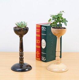 Оптовая 3Style аксессуары гриб поясной цветочный горшок стенд манекен, шарф шляпа модель домашнего ремесла поставки древесины диск базы 1 шт. C542 от