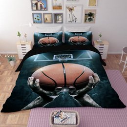 Wholesale Full Size Sheets - 3D Bedding Sets Twin Full Queen Size Sports 4pcs & 3pcs Bedding Quilt Duvet Cover Set Sheet Pillow Cover Bedding Set Gifts Polyester Printed