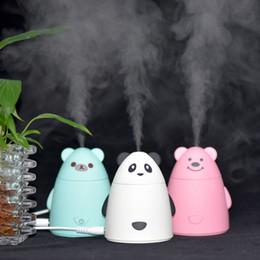 Diseño de cojinete de aire online-Mini diseño de oso de dibujos animados usb humidificador purificador de aire ambientador purificador de niebla fabricante de fogger para oficina sala de coche envío gratis