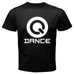 Wholesale electro sound - New Q-DANCE The Sound of Q Electro House Music Men's Black T-Shirt Size S To 2XL Teenage Natural Cotton Printed Top Tee T Shirt