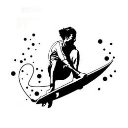 Adesivi da surf online-appassionato di surf, sport da spiaggia, adesivo in vinile, adesivo per auto ca-018