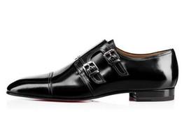 Мужская обувь онлайн-Мужчины лакированная кожа обувь пряжки оксфорды бизнес свадьба плоский высокое качество мужчины платье обувь Eu39-EU46 индивидуальный цвет