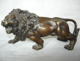 Wholesale Lion Drawings - Collectible bronze lion statue FREE SHIPPING