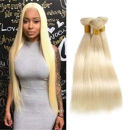 Extensiones de cabello humano indio Doble tramas 3 paquetes Recto Mink Virgin Hair Teje 8-30 pulgadas 613 # Color Recto 613 # desde fabricantes