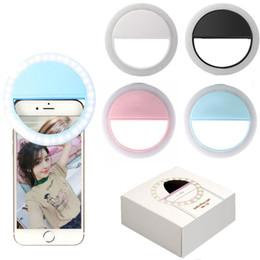 Anillo de foto flash online-Papaler Selfie Lámpara de luz de anillo para Iphone 5 Samsung Flash del teléfono recargable Fotografia Photo Studio Para Celular Ring Light