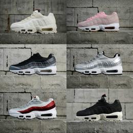 low priced acb78 26ff8 Nike air max 95 OG stripe nero rosa bianco argento outdoor scarpe da corsa  casual uomo donna stivali 95 s sportivo atletico scarpe da ginnastica US  5.5-10 ...