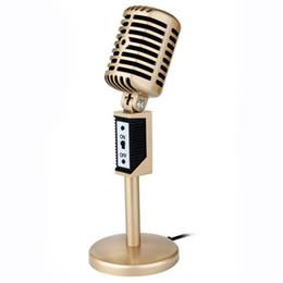 Microfone de conferência de mesa on-line-Estúdio profissional Com Fio Clássico Do Microfone Do Vintage Condensador Retro Conferência de Estilo Antigo KTV MIC para Computador Desktop Laptop