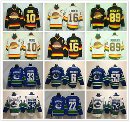Vancouver Canucks 16 Trevor Linden Jersey Vintage CCM Ice Hockey 10 Pavel  Bure 89 Alexander Mogilny Jerseys all Stitched Black White for man bcca8dd25