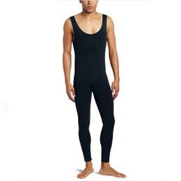 Costumi uomo spandex online-Ensnovo Mens Ballet Gymnastics Tights Dancewear Unitard Lycra Spandex Tuta di nylon Costumi personalizzati per la pelle