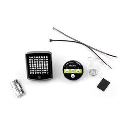 T603A con pilas luz de la bicicleta inalámbrica de la cola 64 LED señal de giro de la bicicleta teledirigida de advertencia luz trasera venta al por mayor desde fabricantes