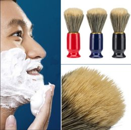 2019 cerdas de plástico Cepillo de afeitar profesional de 3 colores con cepillo de afeitar de los hombres de la cerda de la manija plástica para el cepillo de limpieza facial masculino de la maquinilla de afeitar CCA8782 120pcs cerdas de plástico baratos