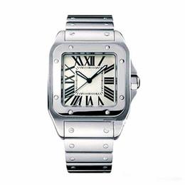 relógios quartzo genebra Desconto Homens casuais Quadrados Relógios Genebra Genuíno de Aço Inoxidável Relógios De Quartzo Moda Mens Relógios Relógio De Pulso Masculino