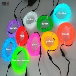 Led Lighting Led Strips 2019 Fashion Flexible Waterproof 3m Neon Light El Cable Metal Tube With The Controller 2color Attractive Designs;