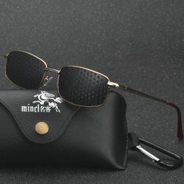 Wholesale plastic pinhole glasses - MINCL  High quality Black Unisex Vision Care Pin hole Eyeglasses Pinhole Glasses Eye Exercise Eyesight Improve Plastic LXL