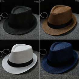 2cde83219dd9c 2019 palha adulta Crianças Adulto Família Panamá Chapéus De Palha Fedora  Chapéus de Borda Mesquita Vogue