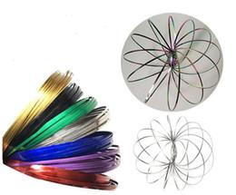Metal colorido Toroflux anel de Fluxo do arco-íris cor Fluxo de anéis de brinquedo Brinquedos de descompressão pulseiras holográficas por Enquanto Movendo inquieto quente de