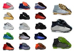 Wholesale ankle shoes for women - Youth Mercurial Superfly V DF SX Neymar FG Football Boots High Ankle Soccer Cleats For Kids Women Superflys Soccer Boots Boys Soccer Shoes