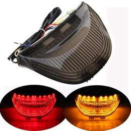 Wholesale Universal Motorcycle Turn Signals - Hot sale Motorcycle LED Tail Light Brake Turn Signals Fit For Honda CBR 600RR 2003 2004 2005 2006 03-07
