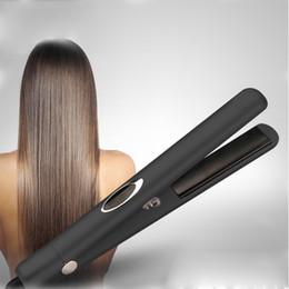 Wholesale hair straightener infrared - Infrared Negative Ions Hair Straightener Tourmaline Ceramic Flat Iron Professional Hair Care Straightening Iron PTC heating