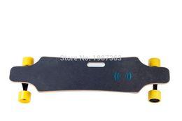 Wholesale Remote Skateboard - Dual drive completed electric skateboard longboard 63mm hub motor 90mm wheel 4.4AH li-ion Battery mini remote
