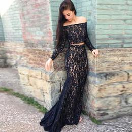 3a22b5d524 vestido largo negro del baile de fin de curso del cordón del negro Rebajas  Vestidos de