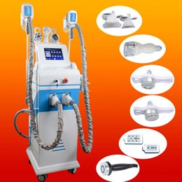 Wholesale head massaging equipment - 3 heads Cryotherapy equipment fat freezing machine criolipolise uk rf ultrasonic cavitation slimming system cellulite reduction massage